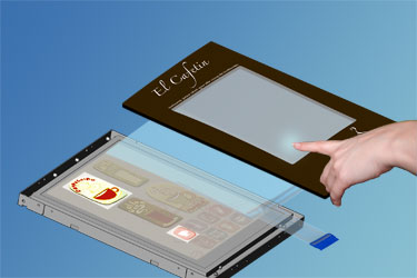Backlit touchscreen